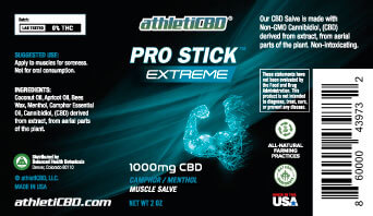 1 CBD ProStick Muscle & Joint Pain Cream Roll-On Relief 1000MG (PLUS  SHIPPING)